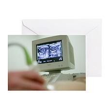 Pregnancy ultrasound Greeting Card