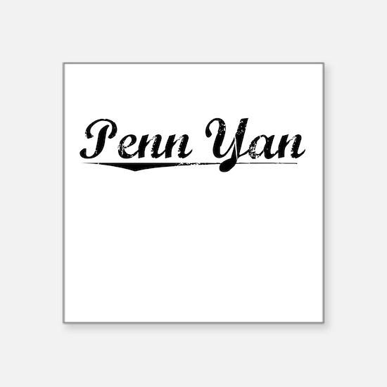 """Penn Yan, Vintage Square Sticker 3"""" x 3"""""""