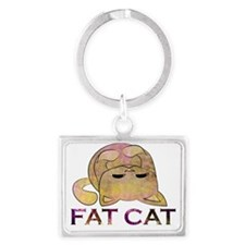 Fat Cat Landscape Keychain
