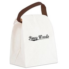 Piney Woods, Vintage Canvas Lunch Bag