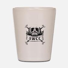 Navy SWCC Grunge Skull Shirt Shot Glass