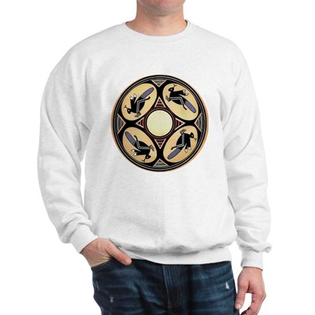 MIMBRES FOUR GRASSHOPPERS BOWL DESIGN Sweatshirt