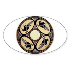 MIMBRES FOUR GRASSHOPPERS BOWL DESIGN Decal