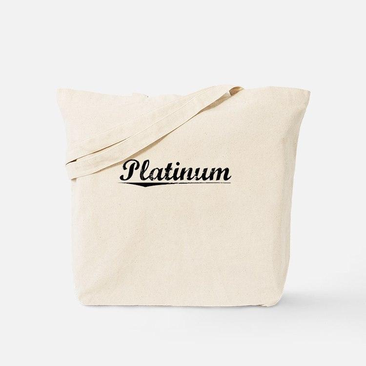 Platinum, Vintage Tote Bag