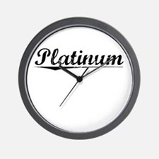 Platinum, Vintage Wall Clock