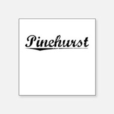 "Pinehurst, Vintage Square Sticker 3"" x 3"""