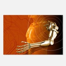 Prosthetic robotic arm, c Postcards (Package of 8)