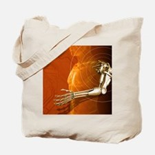 Prosthetic robotic arm, computer artwork Tote Bag
