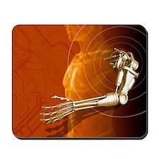 Prosthetic robotic arm, computer artwork Mousepad
