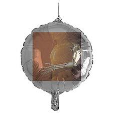 Prosthetic robotic arm, computer art Balloon