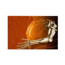 Prosthetic robotic arm, computer  Rectangle Magnet