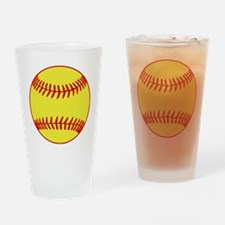 Sofball Drinking Glass