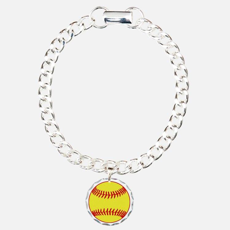 Sofball Charm Bracelet, One Charm