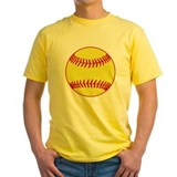 Fastpitch softball Mens Yellow T-shirts