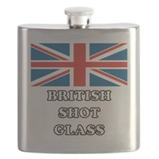 British Shot Glass Flask
