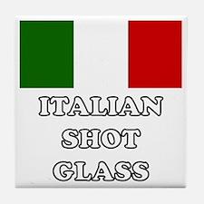 Italian Shot Glass Tile Coaster