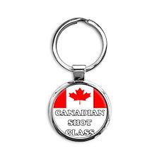 Canadian Shot Glass Round Keychain