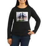 Blue Moderns2 Women's Long Sleeve Dark T-Shirt
