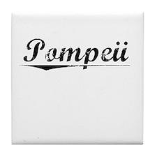 Pompeii, Vintage Tile Coaster