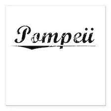 "Pompeii, Vintage Square Car Magnet 3"" x 3"""