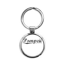 Pompeii, Vintage Round Keychain