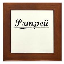 Pompeii, Vintage Framed Tile