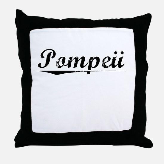 Pompeii, Vintage Throw Pillow