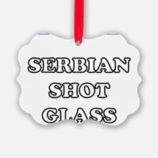 Serbian Shot Glass Ornament