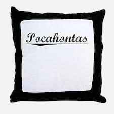 Pocahontas, Vintage Throw Pillow