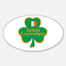 Irish Grandpa Oval Decal