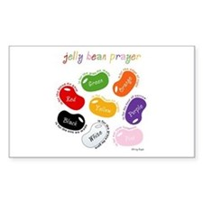 Jelly Bean Prayer Rectangle Decal