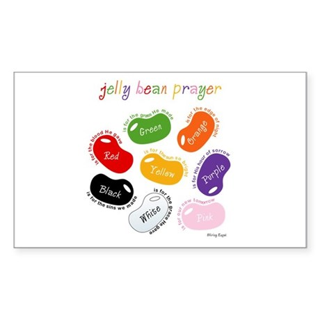 Jelly Bean Prayer Rectangle Sticker