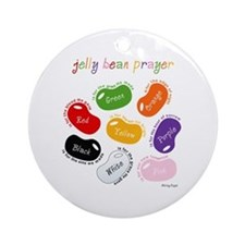 Jelly Bean Prayer Ornament (Round)