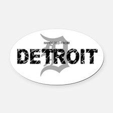 Imported From Detroit Black w/D Oval Car Magnet
