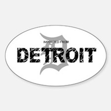 Imported From Detroit Black w/D Sticker (Oval)