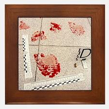 Recording evidence Framed Tile