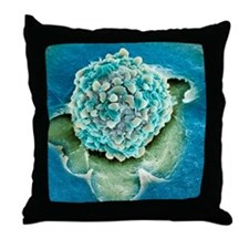 Rectal cancer cell, SEM Throw Pillow