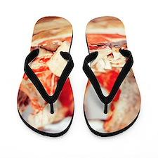 Raw meat Flip Flops