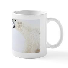 Polar Bears standing on snow after play Mug