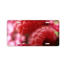 Raspberries Aluminum License Plate