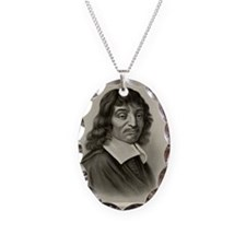 Rene Descartes, French mathema Necklace Oval Charm