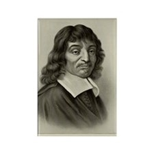 Rene Descartes, French mathematic Rectangle Magnet
