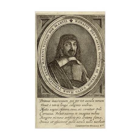 Rene Descartes, French mathema Sticker (Rectangle)