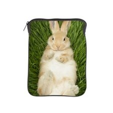 Rabbit laying in grass iPad Sleeve
