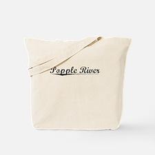 Popple River, Vintage Tote Bag