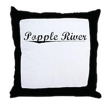 Popple River, Vintage Throw Pillow