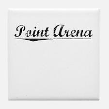 Point Arena, Vintage Tile Coaster