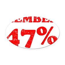 Member 47 Percent Oval Car Magnet