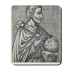 Pythagoras, Ancient Greek mathematician Mousepad