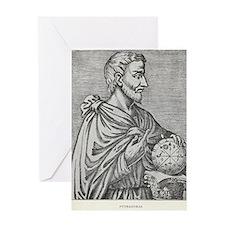 Pythagoras, Ancient Greek mathematic Greeting Card